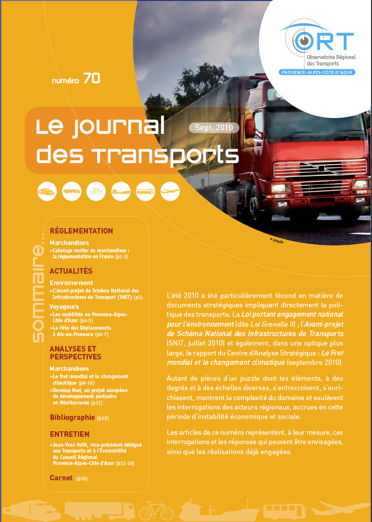 Le journal des transports n° 70