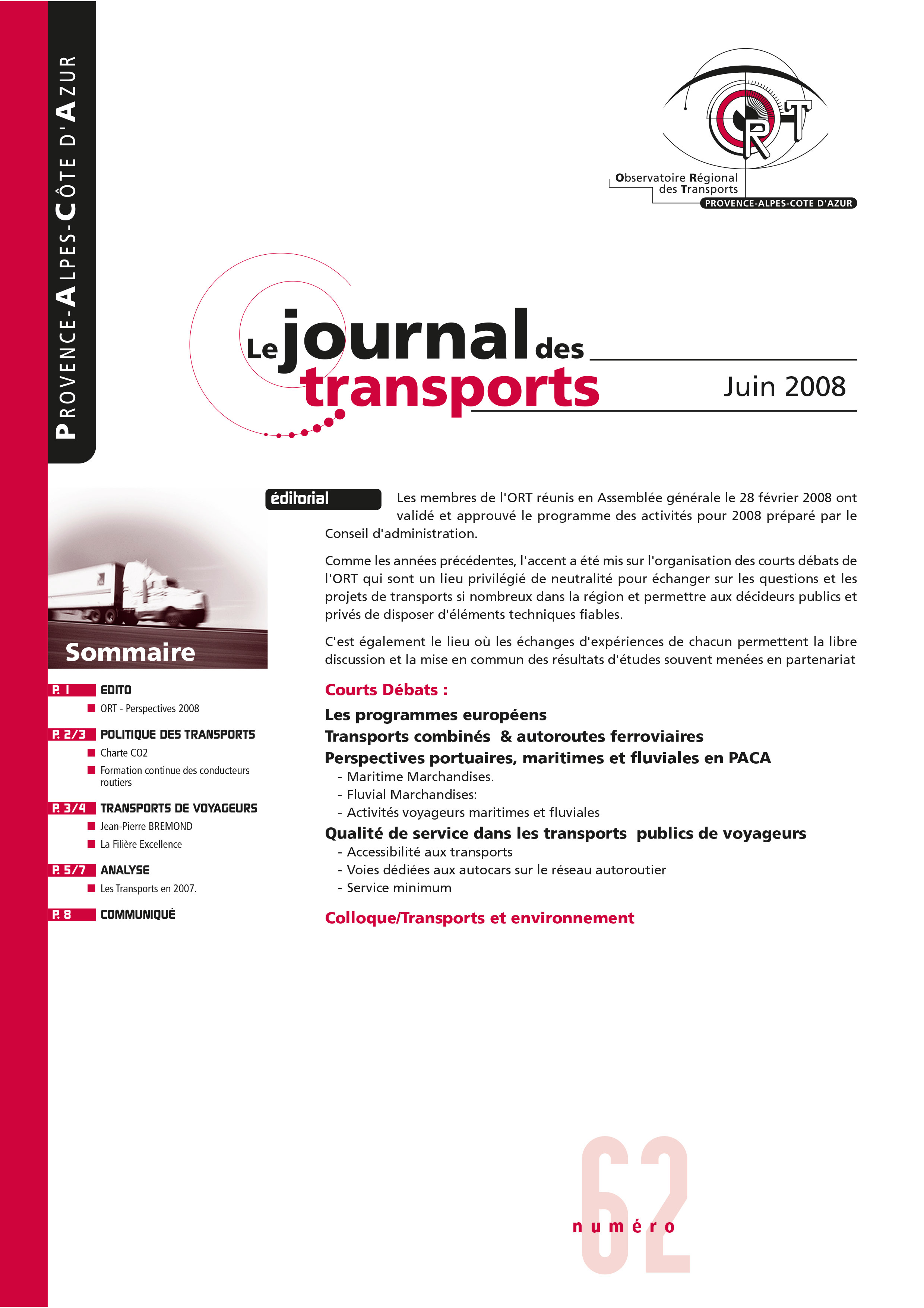Le journal des transport N°62